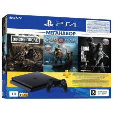 Игровая приставка Sony PlayStation 4 Slim 1 ТБ + 3 игры